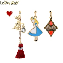 Red Love earring posts ,beautiful earring set designs for women