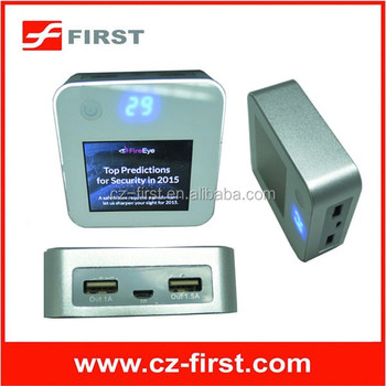 2015 Newest style power bank with LCD Advertising player manufacture