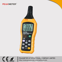 100 Groups Data Logging and Recall Ambient Wet Bulb Dew Point Relative Digital Industrial Thermometer