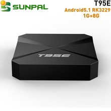 2017 T95E Android5.1 TV Box H.265 2.4g wifi android 5.1 4k hd ott tv box with europe iptv subscription