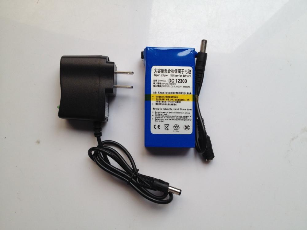 Super Rechargeable Dc 12v 3ah Li Ion Battery Pack For