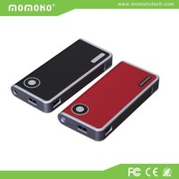dual usb 2.4A output mobile power bank 6000mAh with PU leather