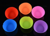 silicone cake mold Pantry Elements Silicone Baking Cups / Cupcake Liners - 12 Muffin Molds Per Set