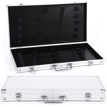 Custom sturdy large portable aluminum hairdressing scissor storage case