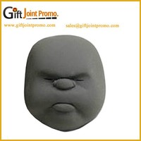Mini Vent Human Face PU Foam Stress Ball