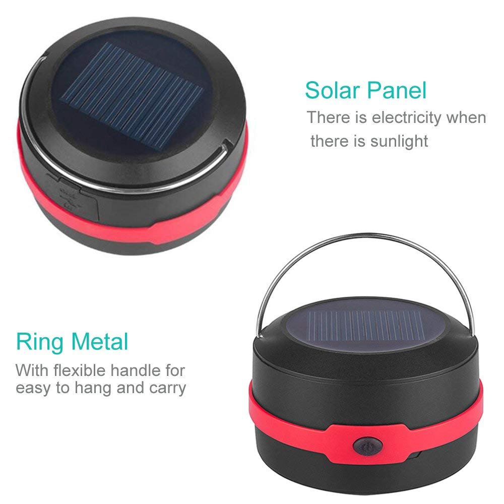 YARRAE solar Portable 3 Modes Collapsible Emergency LED Lights