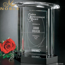 Noble Hot Sale Blank House Shape Clear Crystal Awards Plaque Memorial Trophy