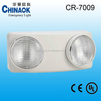 CR-7009 Power Failure Twin Head Spot LED Emergency Light