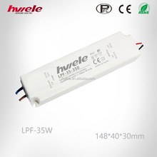 LPF-35W waterproof LED power supply with PFC function passed SGS,CE,ROHS,TUV,KC,CCC certification