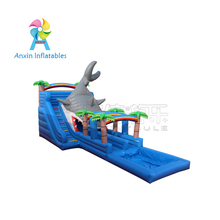 Cheap Price Giant Commercial Inflatable Shark Water Slide With Pool For Adult