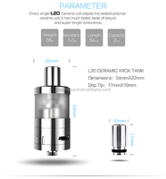wholesale dry herb wax atomizer ecigarettes L20 Ceramic Wick Tank ceramic wax atomizer dry herb atomizer