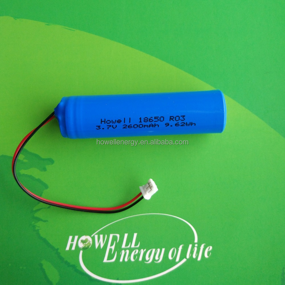 18650 li ion battery 3.7V cylindrical 2600mah 9.62wh rechargeable lithium ion battery with PCM