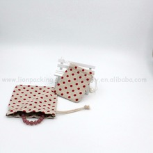 China Suppliers Custom Printed Jewelry Packing Bags / Linen Jewelry Pouch / Bracelet Linen Bag