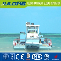 water mowing ship/machine for cutting and collecting aquatic plants, reeds, water hyacinth, floating garbage