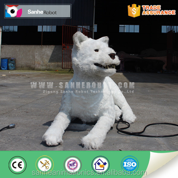 CW animatronics cool white fur handsome factory lion for sale