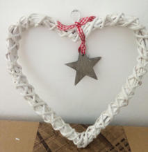 Discount Party Supplies Wicker Heart Primitive Hanging Ornaments