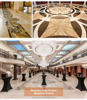 PFM Chinese popular luxury onsale meddalion big floor decorative marble waterjet medallion for hotel&villa project design