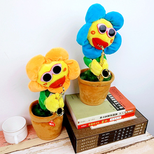 Factory supply singing and dancing music sunflower with Saxophone Soft Plush Funny Creative Electric Toys