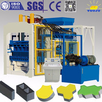 automatic brick making machine qt12-15 concrete plastic mould pavers