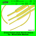 heat shrinkable tubing green and yellow