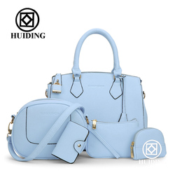 Hot sale 5 pcs in 1 set bag Lady handbag with shoulder bag+Totes+clutch+card holder
