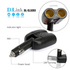 2-Way Car Cigarette Lighter Socket Splitter 12V/24V Charger Light Switch Supply Socket