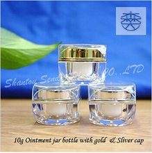 10g small volume inner size about 23mm small jars with screw cap