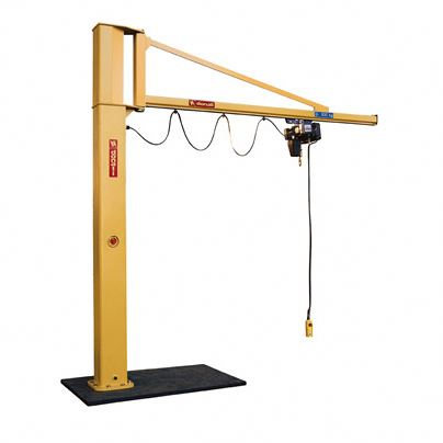 Electric hoisting arm jib swing lift crane