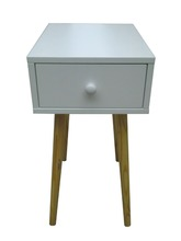 Modern style single drawer wood end table