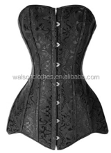 instyles Long Line Corset Steel Boned Overbust Long Torso Waist Training Corset