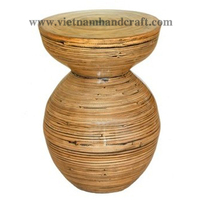 Best selling eco-friendly handpainted Vietnamese natural bamboo telephone tables with black effects