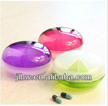 Candy Color 3 Partition plastic pill box small pill box for the promotional gift