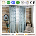 American style luxury polyester jacquard sheer curtain