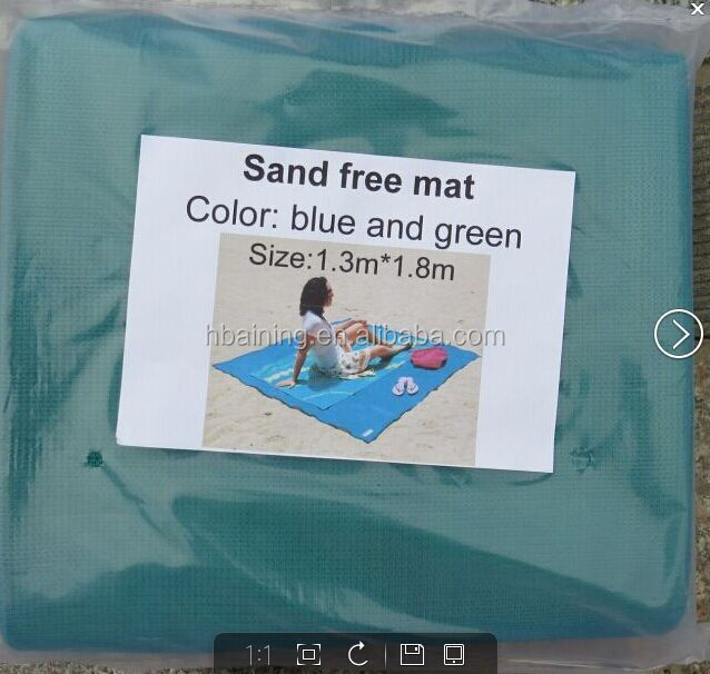 HDPE Eco-friendly Customer label foladable anti sand beach mat