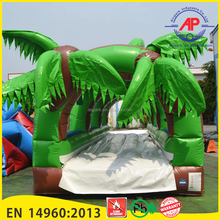 PVC Inflatable forest Slide / Water Slip with pool for adult