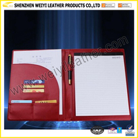 Genuine Leather A4 Size File Holder Presention Folder Document Case