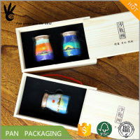 wooden wine glass bottle cup jar packaging box with eva