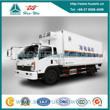 SINOTRUK CDW 4*2 Very Chilled Mini Refrigerated Van for distribution of frozen chickens