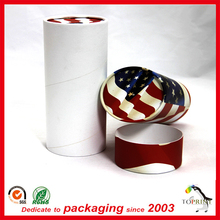 Custom white cylinder tube biodegradable paper containers with fancy price