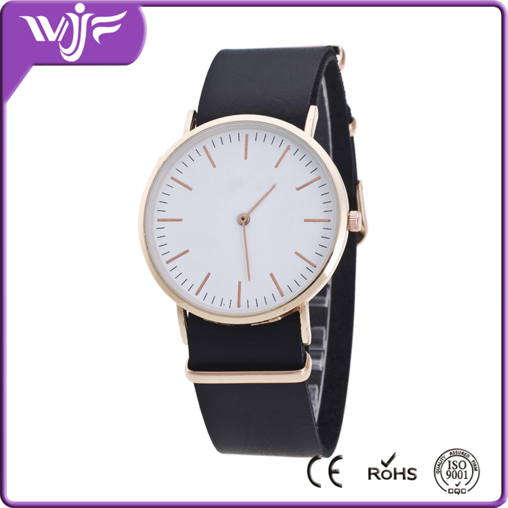 Fashion Custom Wrist Brass Watch With Different High Quality Strap Material