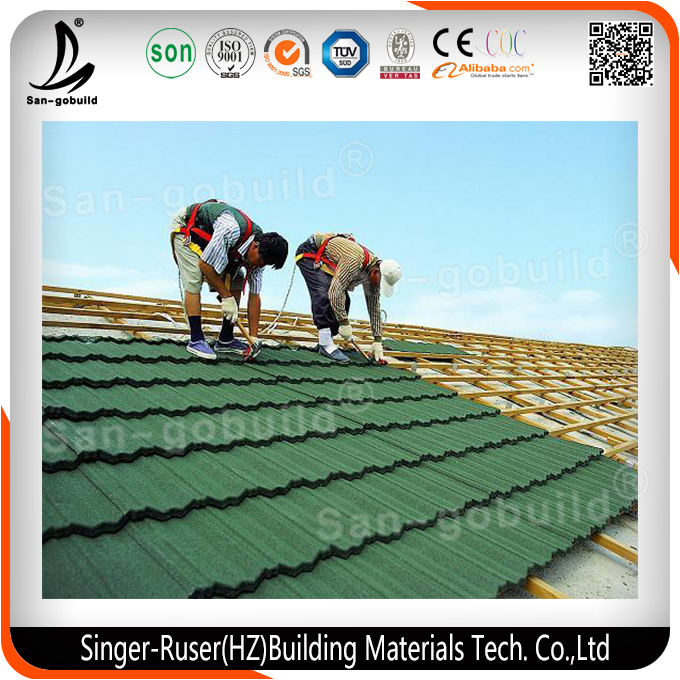 Africa Colorful Asphalt Shingle Corrugated Metal Roof Tile Used for Building Material