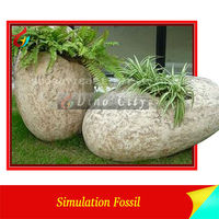 High Simulation Dinosaur Fossils Eggs and Nest