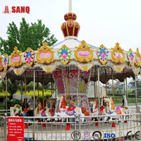 Funfair Kids Amusement Ride Fiber Glass Kids Carousel/Best Price Of Funny And Interesting Carousel For Sale