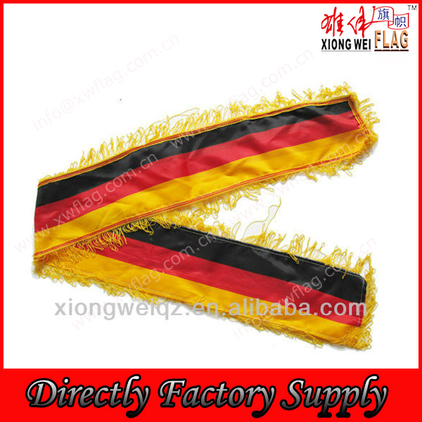 Satin material England football Fans scarves fans wraps tassels scarf