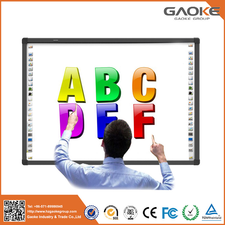 82'' to 130'' education board wall mounted ceiling hanging projector screen with shortcuts digital smart board for classroom