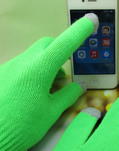 winter smart phone touch screen neon acrylic neon gloves