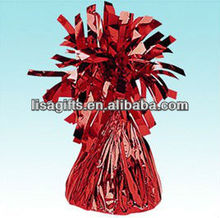 2012 hot selling foil balloon weights red