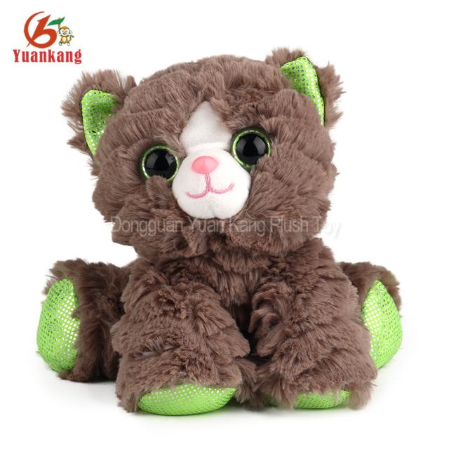 Wholesale Big Eyes Soft Custom Lifelike Stuffed Animals Cats That Look Real Bulk Plush Cat doll Toys For Kids