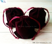 Wine red Velvet bag