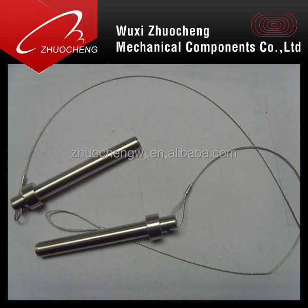 pins with wire rope
